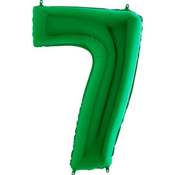 Folienballon Zahl 7 Grün 100cm