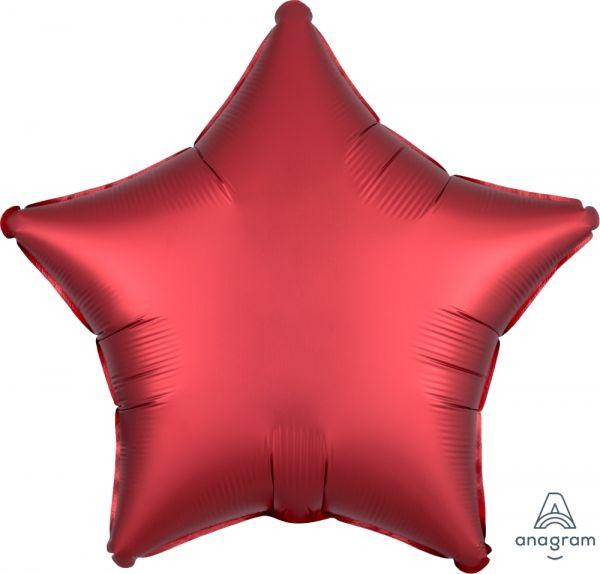 Folienballon Stern Satin Sangria Rot 45cm
