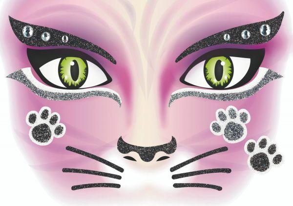 Face Art Sticker - Katze