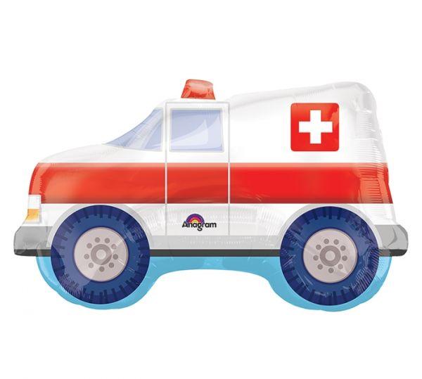 Folienballon Krankenwagen 83x50cm