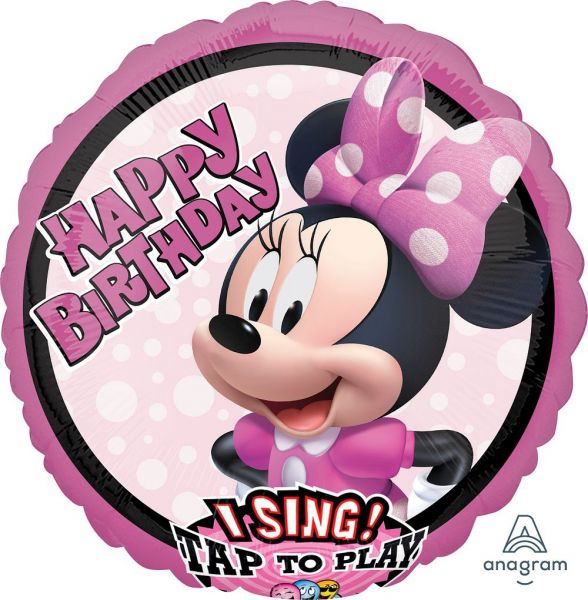 Musikballon Happy Birthday singende Minnie Mouse 71cm
