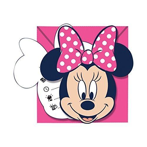 Minnie I love Dots - 6 Einladungskarten