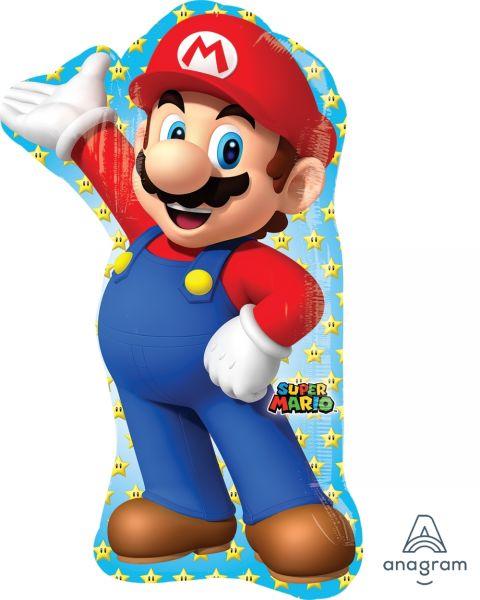 Folienballon Supershape Mario 55x83 cm