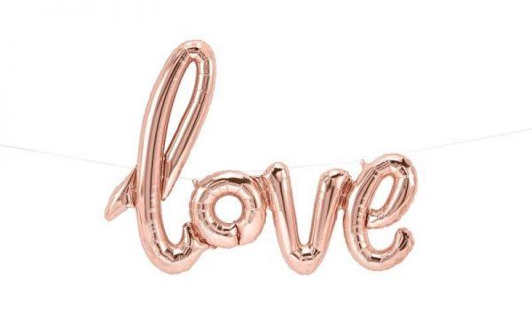 Folienballon-Girlande Script Love Roségold