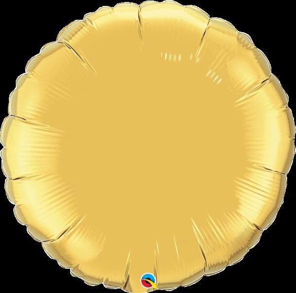 Folienballon Rund Gold 90 cm