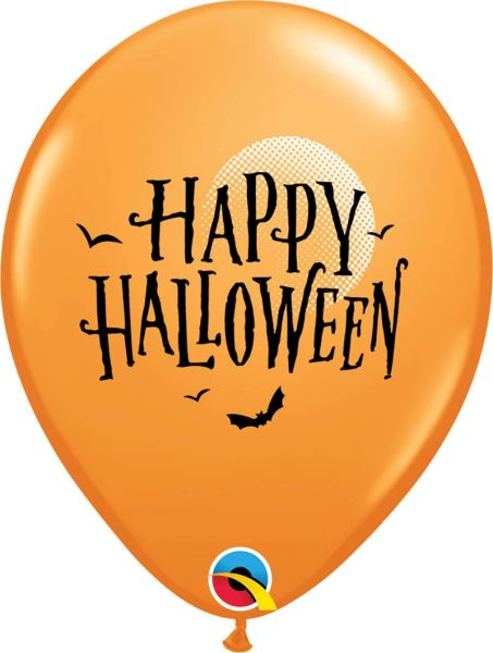 Qualatex Ballon Halloween Fledermäuse Orange Ø 30cm