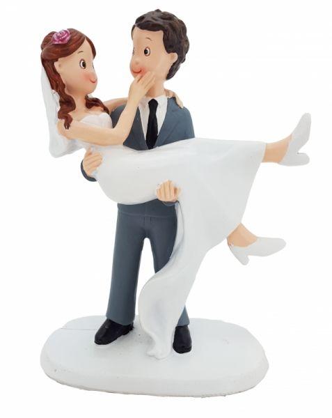 Figur Bräutigam trägt Braut auf Händen