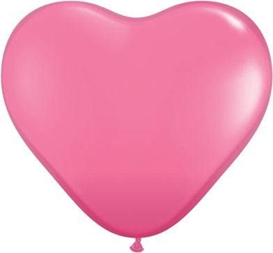 Latexballon Herz Pink Ø 45cm