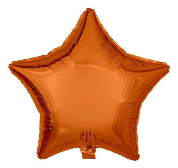 Folienballon Stern Orange 45cm
