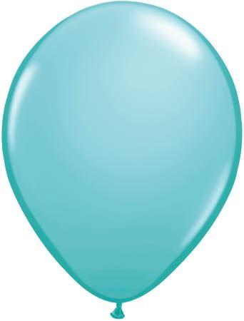 Qualatex Latexballon Caribbean Blue Ø 13cm
