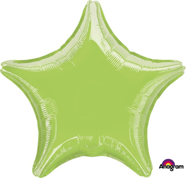 Folienballon Stern Limettengrün 45cm