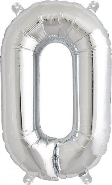 Luftballon Buchstabe O Silber 40cm