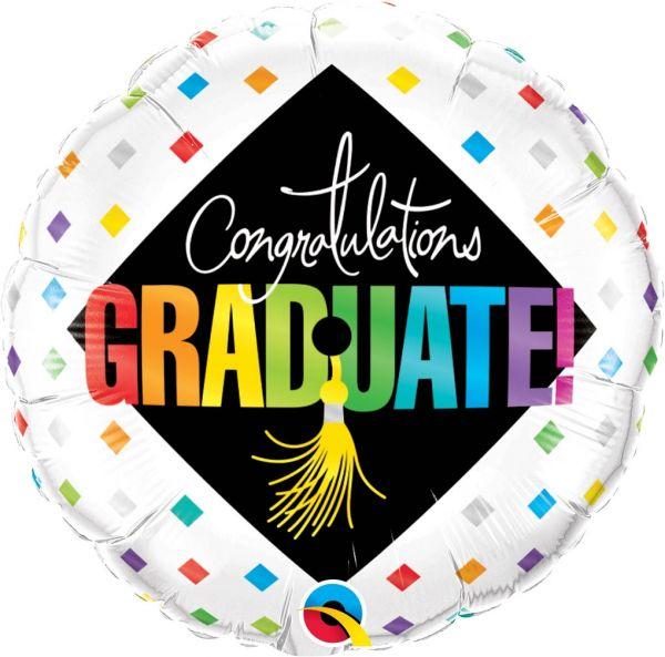Folienballon Congratulations Graduate! zum Uni-Abschulss 45cm