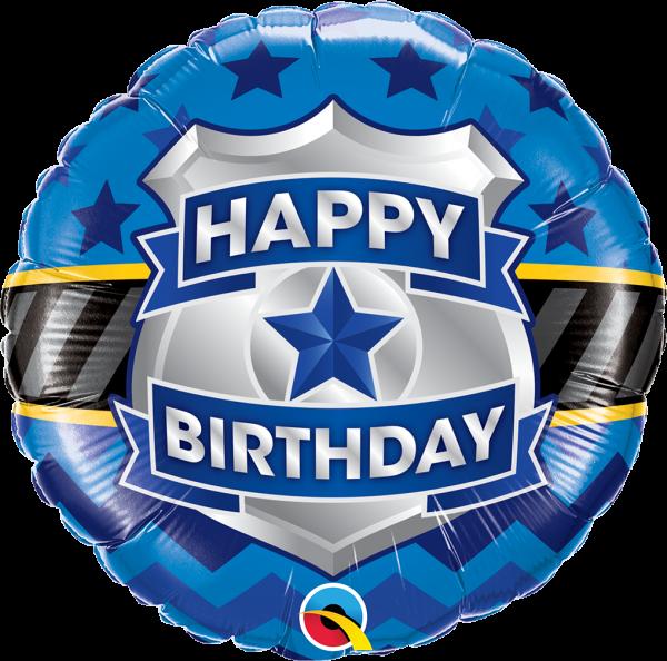 Geburtstagsballon Polizeimarke 45cm