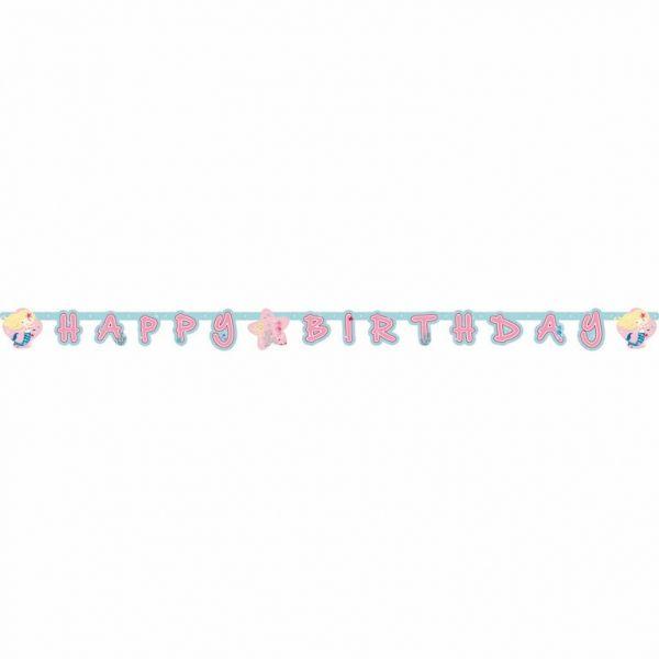 """Meerjungfrau - Partygirlande """"Happy Birthday"""""""