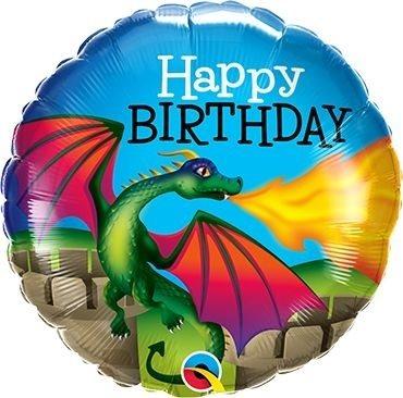 "Folienballon Happy Birhtday ""Drache"" 46cm"
