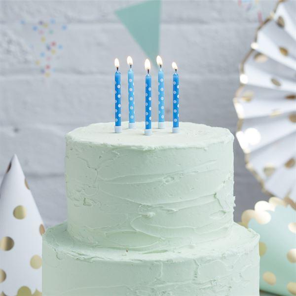 Pick & Mix - 24 blaue Geburtstagskerzen