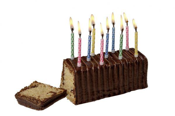 10 Zauber-Geburtstagskerzen mit Halter