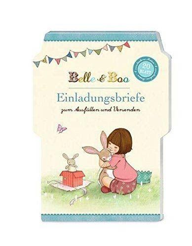 Belle & Boo - 20 Einladungsbriefe