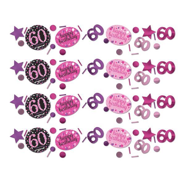 Sparkling Celebration Pink 60. Geburtstag Konfetti 34g