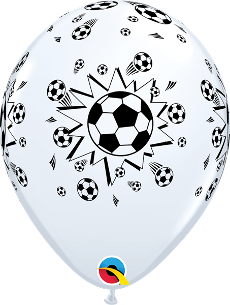 Qualatex Ballon Fußball Schwarz-Weiß 30 cm