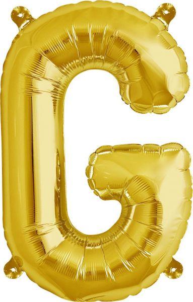 Luftballon Buchstabe G Gold 40cm