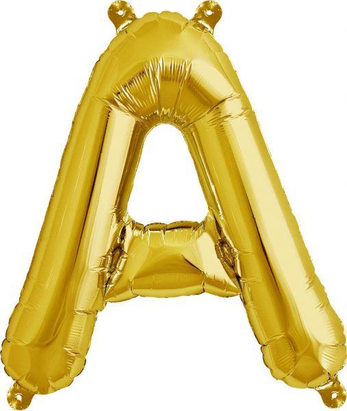 Luftballon Buchstabe A Gold 40cm
