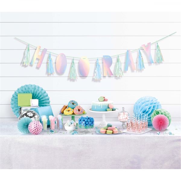 Shimmering Party - HOORAY-Girlande mit Tasseln