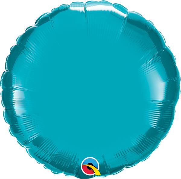Folienballon Rund Türkis 45cm