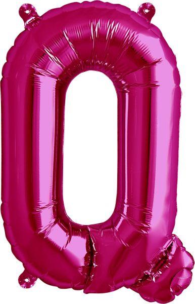 Luftballon Buchstabe Q Pink 40cm