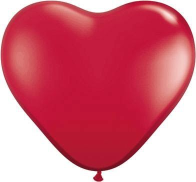 Qualatex Latexballon Herz Ruby Red Ø 15cm