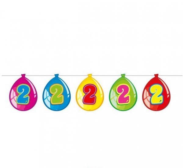 Luftballon-Wimpelkette zum 2. Geburtstag