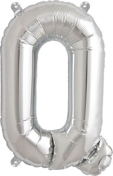Luftballon Buchstabe Q Silber 40cm