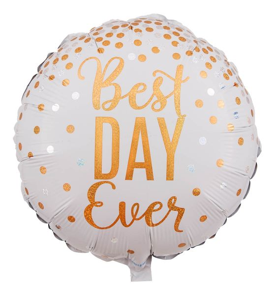 Folienballon Glitzer Best Day Ever 45cm