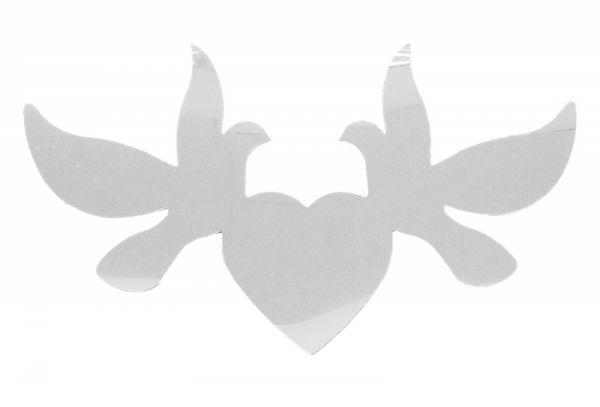 6 Flitter-Tauben Silber