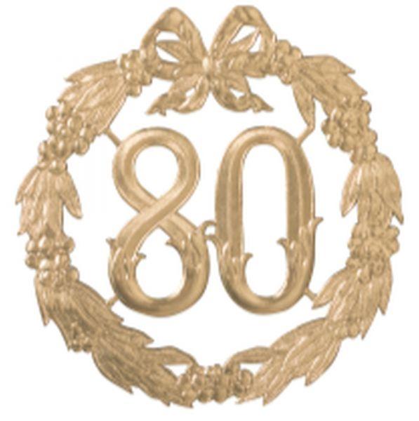 """Jubiläumszahl Gold """"80"""""""