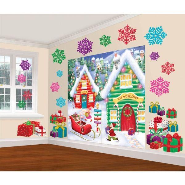 Weihnachts-Szenenbild Nordpol 32 tlg.
