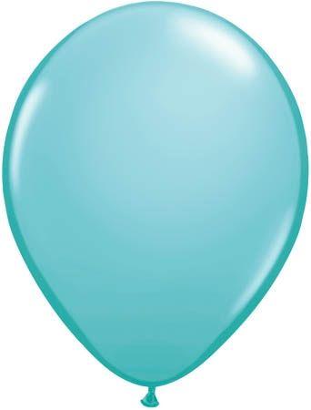 Qualatex Latexballon Caribbean Blue Ø 30cm