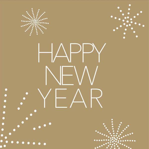 20 Silvesterservietten Happy New Year