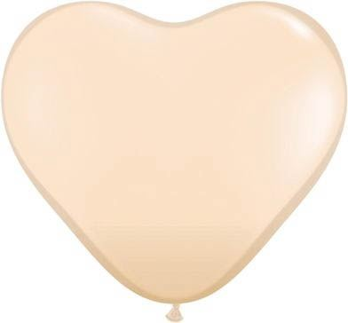Qualatex Latexballon Herz Blush Ø 15cm