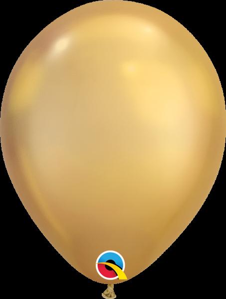 Qualatex Latexballon Chrome Gold 30cm