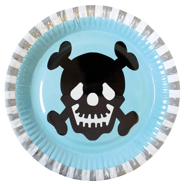 Piraten - 8 Pappteller 23 cm
