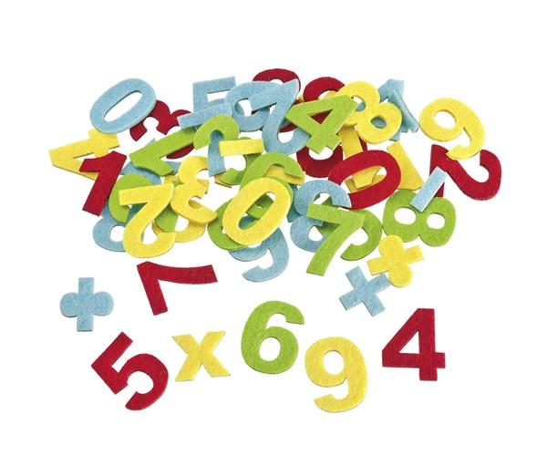 Filz-Deko-Konfetti Zahlen