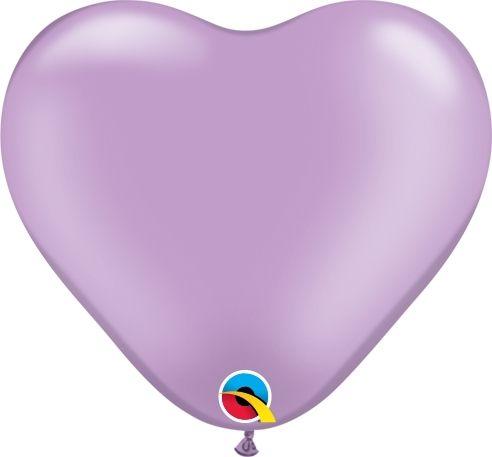 Qualatex Latexballon Herz Pearl Lavender Ø 15cm