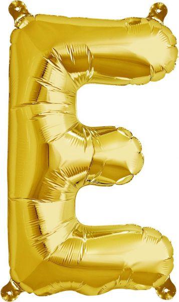 Luftballon Buchstabe E Gold 40cm