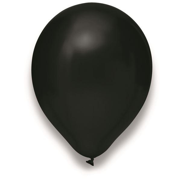 Latexballon Metallic Schwarz 100 Stück Ø 30cm