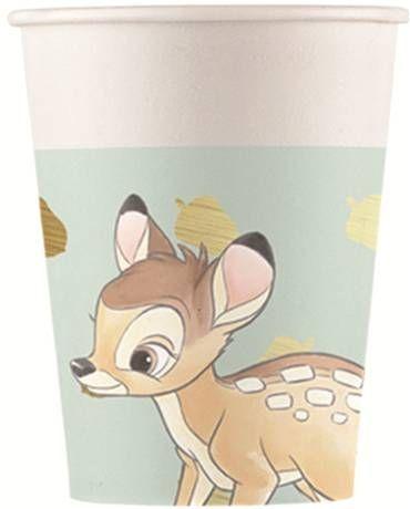 Bambi - 8 Pappbecher