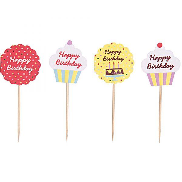 Cupcake Topper - Happy Birthday