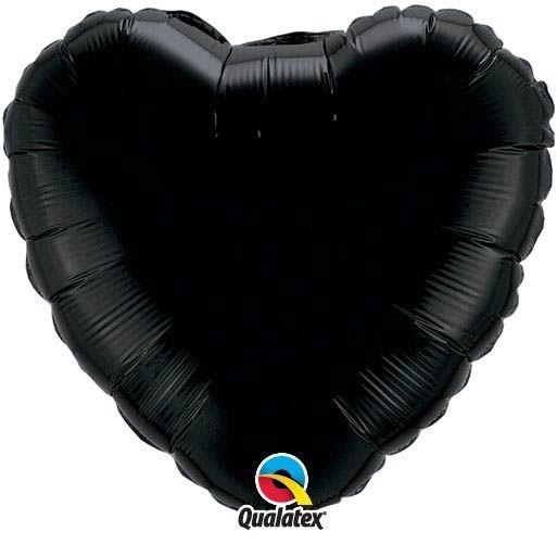 Folienballon Herz Schwarz 45cm