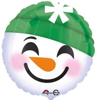 Ballon Schneemann Emoji 45cm